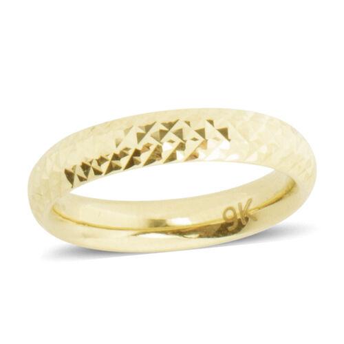 Istanbul Treasure Collection - 9K Yellow Gold Diamond Cut Band Ring