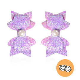2 Piece Set - Multi Colour Bow Tie Hairpin (Size 8x5 Cm)