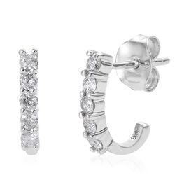 9K W Gold SGL CERTIFIED Diamond (Rnd) (I3 / G-H) Earring 0.500 Ct.