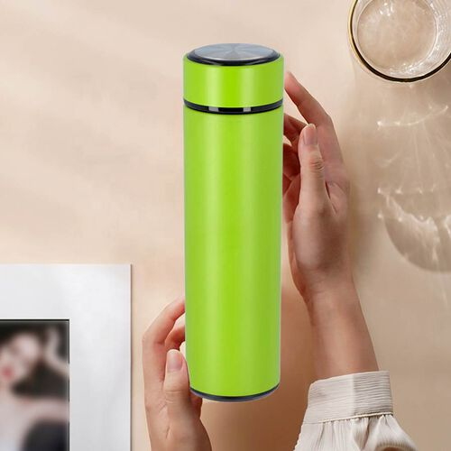 Hot and Cold Flask with Tea Infuser (Size 23x6cm - 500ml) - Neon Green
