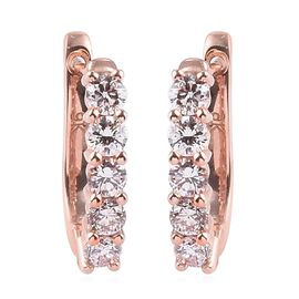 WEBEX 9K Rose Gold SGL Certified Pink Diamond (I2) Clasp Earrings 0.50 Ct.
