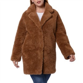Reversible Winter Coat (Size 57x90cm) - Brown