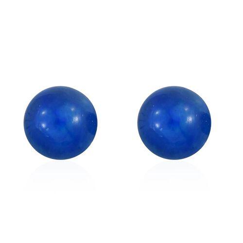 9K W Gold Paraiba Ethiopian Opal (Rnd) Ball Stud Earrings (with Push Back) 1.000 Ct.