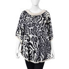 Leopard Pattern Apparel with Lace Collar (One Size Fits All; 77x67 Cm) - Black and White