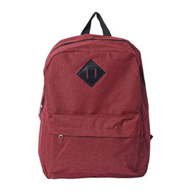Red Backpack with Zipper Closure (Size 30x11x40cm)