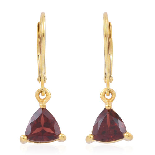 Mozambique Garnet (Trl) Lever Back Earrings in 14K Gold Overlay Sterling Silver 2.750 Ct.