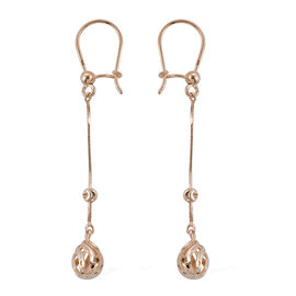 Royal Bali Collection 9K Yellow Gold Diamond Cut Hook Earrings