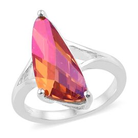 J Francis Crystal From Swarovski - Astral Pink Crystal (18x7.5 mm) Ring in Sterling Silver