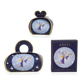 The English Soap Company:  Luxury Guest Soaps (Angel) - 3x20g, Large Gift Soap - 260g & Pure Soy Wax