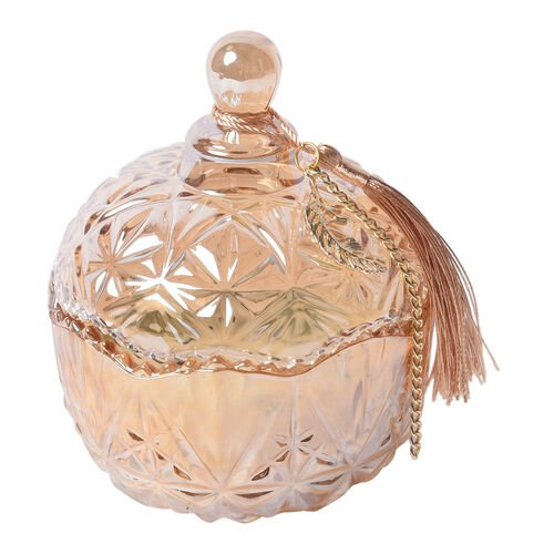 The 5th Season Cold Water Scented Candle Containing Aventurine Jade in Tassel Design Glass Container