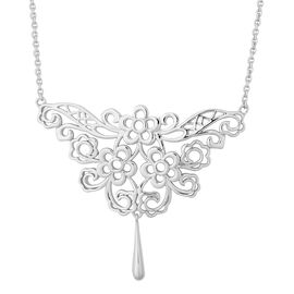 Lucy Q Lace Dripping Floral Necklace in Gold Plated Silver 16 with 4 inch Extender