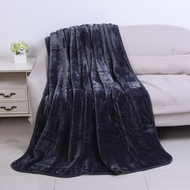 Serenity Night - Charcoal Colour Supersoft Luxury Blanket (Size 150x200cm)
