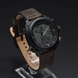 Columbia Ridge Runner Analog-Digital Dark Brown Leather Watch