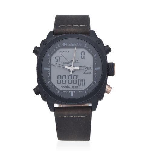 Columbia Ridge Runner Analog-Digital Dark Brown Leather Watch
