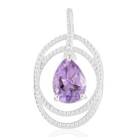 Rose De France (Pear) Pendant in Sterling Silver 1.750 Ct.