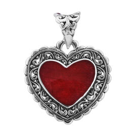 Royal Bali Collection Sponge Coral Heart Pendant in Sterling Silver