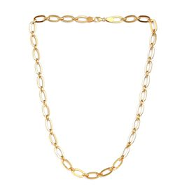 Vicenza Collection Link Necklace in Yellow Gold Plated Sterling Silver 24 Inch