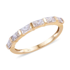 Swarovski Zirconia (0.75 Ct) 9K Y Gold Ring  0.750  Ct.