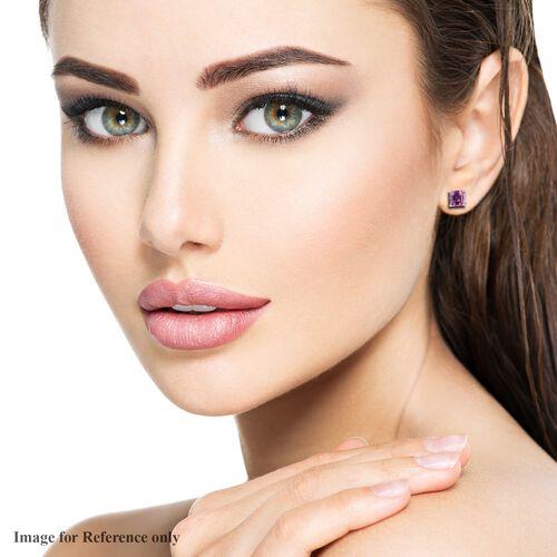 RHAPSODY 950 Platinum AAAA Pink Sapphire Stud Earrings (with Screw Back) 1.50 Ct.