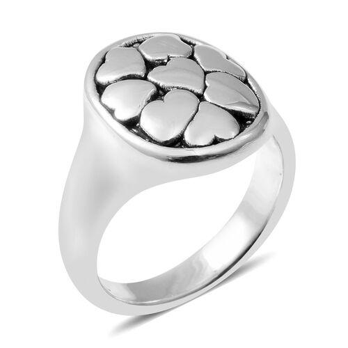 Designer Inspired Sterling Silver Pebble Ring, Silver wt. 4.47 Gms.