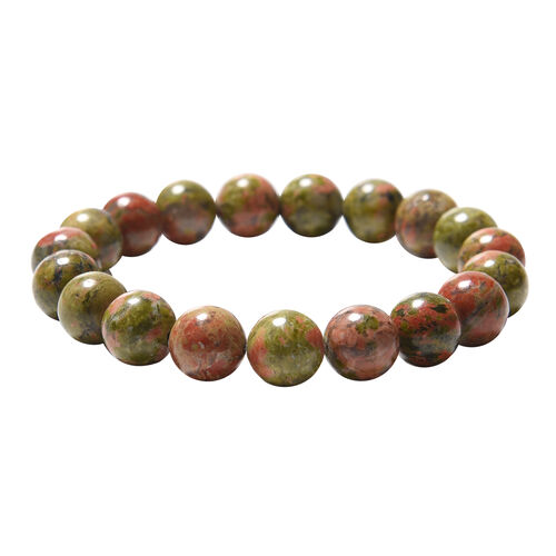 Unakite Beaded Stretchable Bracelet (Size 6.5) 156.50 Ct.