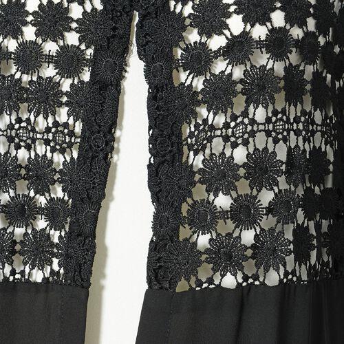 Black Colour Woven lace Cardigan