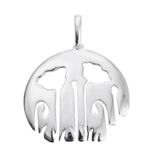 Vicenza Collection - Designer Inspired Sterling Silver Flower Pendant, Silver wt. 4.60 Gms.