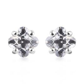 J Francis Made with SWAROVSKI ZIRCONIA Flower Stud Earrings in Sterling Silver