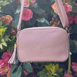 Kris Ana Tassel Zip Crossbody Bag - Pale Pink