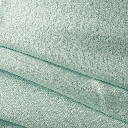100% Cashmere Wool Aquamarine Colour Scarf (Size 200x70 Cm)