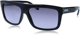JUST CAVALLI Black Flat-top Sunglasses with Grey Lenses