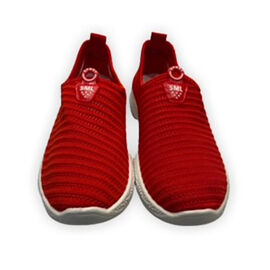Low-Top Women's Synthetic Upper Shoes - Red