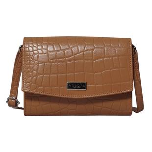 ASSOTS LONDON Matilda Genuine Pebble Grain Leather Hobo Shoulder Bag - Rust