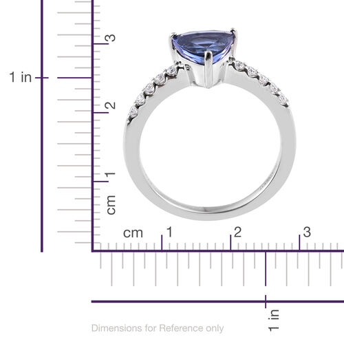 RHAPSODY 950 Platinum AAAA Tanzanite (Trl), Diamond (VS/E-F) Ring 2.100 Ct.
