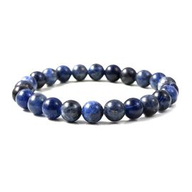 Sodalite Beads Stretchable Bracelet (Size 7) 88.500 Ct.