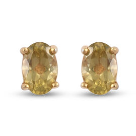 Yellow Apatite Earring in 14K Gold Overlay Sterling Silver 1.25 ct  1.250  Ct.