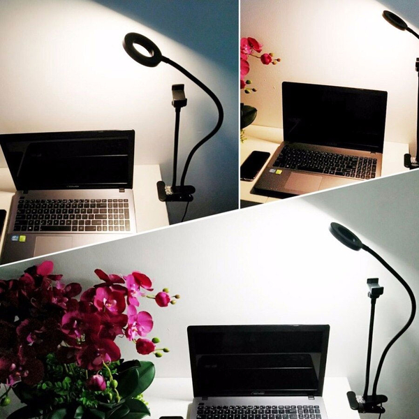 2-in-1 Portable Light (3 Lighting Modes) with Cell Phone Holder