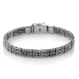Royal Bali Collection Sterling Silver Borobudur Bracelet (Size 8), Silver wt 33.63 Gms.
