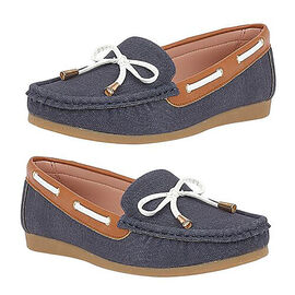 Lotus Hannah Deck Shoes in Navy Colour