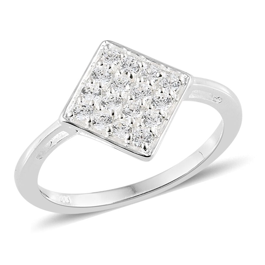 cad846630 J Francis Made with Swarovski® Zirconia Cluster Ring 925 Sterling Silver