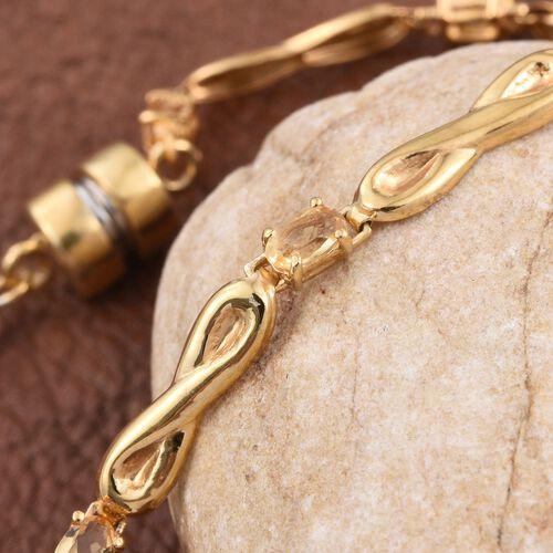 Citrine (Ovl) Bracelet (Size 7.5) in 14K Gold Overlay Sterling Silver 1.750 Ct.