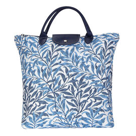 SIGNARE - William Morris Collection - Willow Bough Foldable Shopping Bag/Large Tote Bag (38 x 35.5 x
