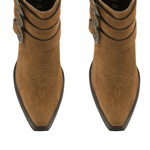 Ravel Tan Colville Suede Ankle Leather Boots (Size 3)