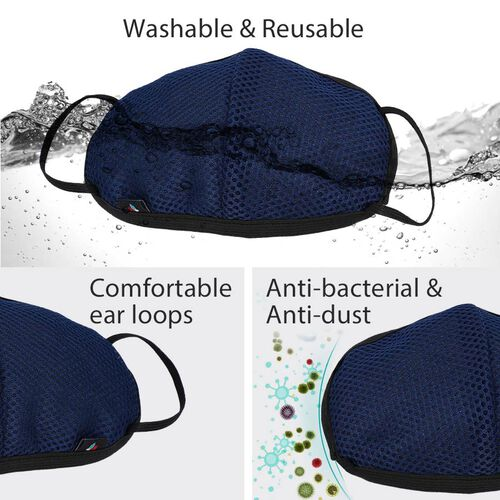 6 Layer Anti Dust Face Covering - Blue