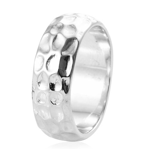 Platinum Overlay Sterling Silver Ring