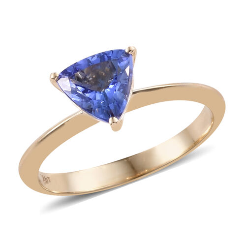 Close Out Deal 1 Carat Tanzanite Solitaire Ring in 14K Yellow Gold 2.25 Grams