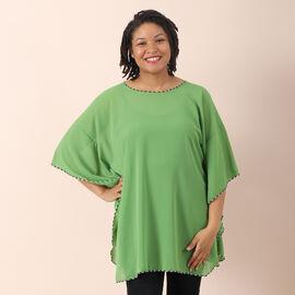 JOVIE Solid Colour Chiffon Kaftan (Size: 110x80 cm) - Green