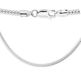 Sterling Silver Lizard Chain (Size 18), Silver wt 7.60 Gms