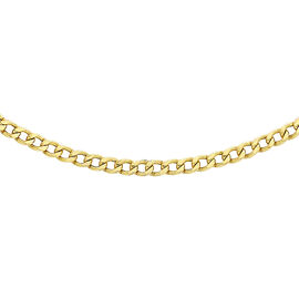 Hatton Garden Close Out Deal-9K Yellow Gold Curb Necklace(Size 18)