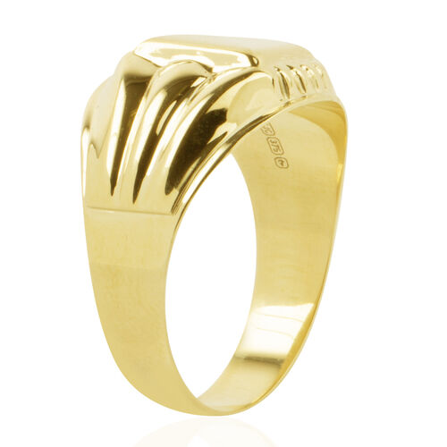 Istanbul Treasure Collection- 9K Yellow Gold Signet Ring